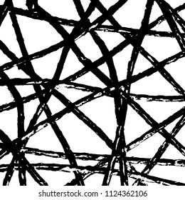Simple abstract black and white drawing. Expressive drawing. Abstract Overlay Texture. Vector.