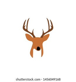 Simple Abstract Deer Head for Logo Icon