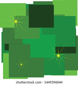Simple abstract Green Energy starlight