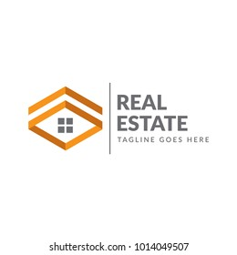 simple abstract home real estate logo icon vector template