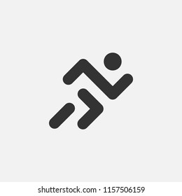 Simple abstract minimalistic logo for sport's company