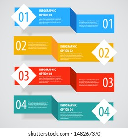 Simple abstract modern infographics options banner. Vector illustration.