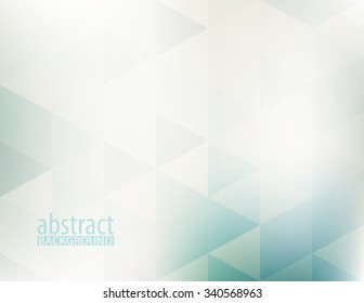 Simple abstract pale geometric pattern with transparent triangles. Subtle horizontal vector background