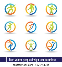 Simple & abstract people logo template, looks modern and iconic.