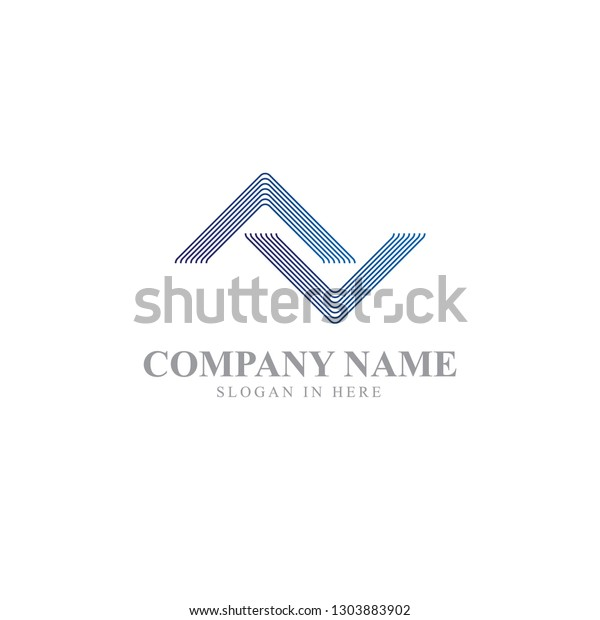 Simple Abstract Roof Logo Minimalistic Logo Stock Vector Royalty Free 1303883902