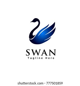 simple Abstract swan logo