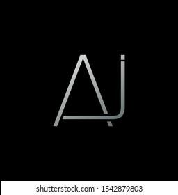 Simple Abstract Techno Line  Letter A,J, AJ logo icon. Creative vector logo icon design  concept  for business or company identity.