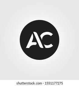 Simple AC letter Logo. Creative Letter AC Logo vector Template. letter AC logo. AC font logo template.