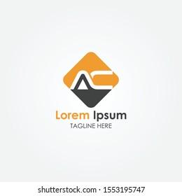 Simple AC letter Logo. Creative Letter AC Logo vector Template. letter AC logo. AC font logo Icon.