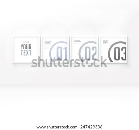 Simple Adjustable Composition Four Isolated Picture Stock