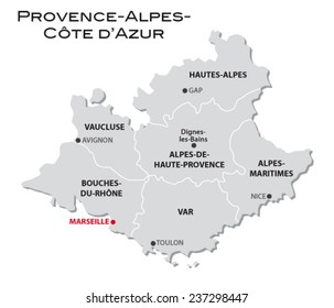 Provence Map Images, Stock Photos & Vectors   Shutterstock