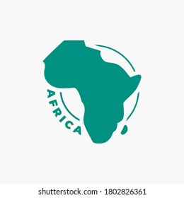 simple Africa Map icon Logo designs template