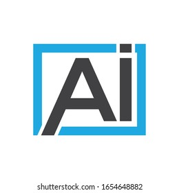 Simple Ai or iA letter logo