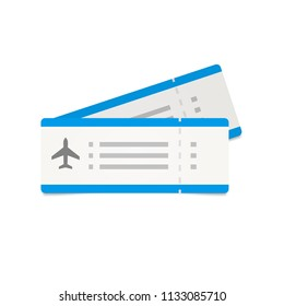Simple air tickets icon. Plane admission illustration