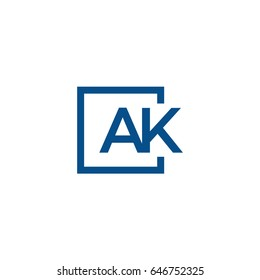 Simple AK initial Logo designs template, Vector illustration