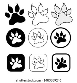 simple animal paw print icon sign