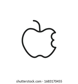 Simple apple line icon. Stroke pictogram. Vector illustration isolated on a white background. Premium quality symbol. Vector sign for mobile app and web sites.