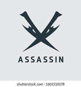 Simple Assassin Logo or icon design