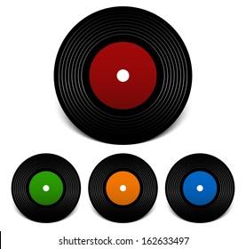Simple atmospheric vinyl record vector illustration