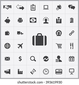 Simple B2B icons set. Universal B2B icons to use for web and mobile UI, set of basic B2B elements