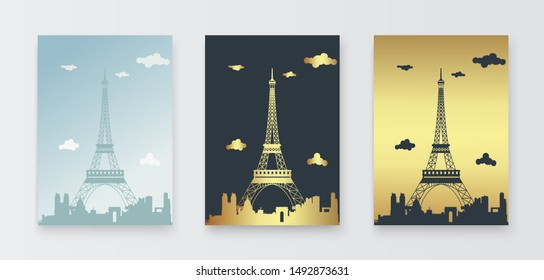 Simple background for Paris, traveler design with soft and smooth colors, can be printed and used for wall displays.