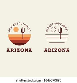 Simple Badge Vector Design Desert Southwest Arizona
