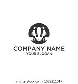 Simple badger logo abstract for company and sport.