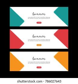 Simple Banner Template Design.