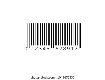 Simple bar code isolated over white background