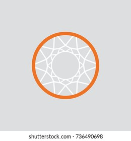 Simple Basketball basket and net. vector
