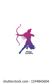 Simple and beautiful abstract for Happy Dussehra with nice and creative illustration of Lord Ram.