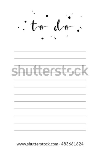 simple to do list template