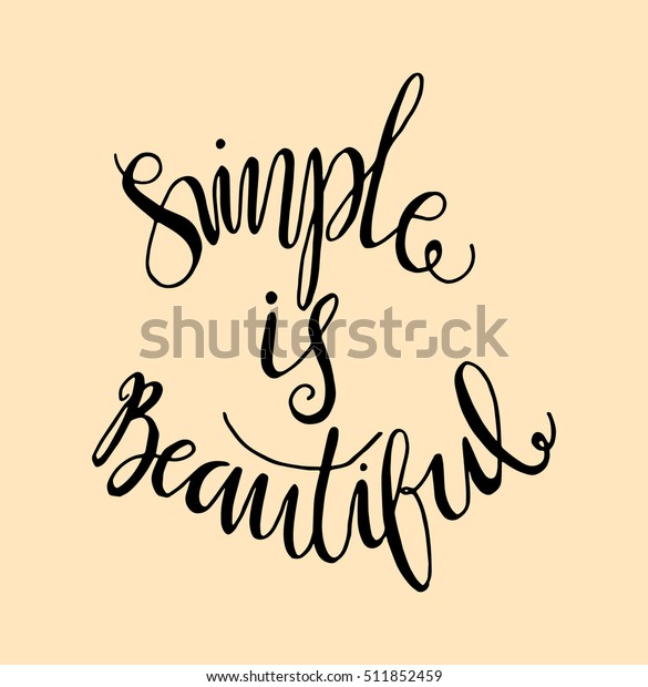 Simple Beautiful Woman Quote Hand Lettered Stock Vector ...