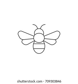 Simple bee icon, outline icon