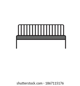 Simple Bench and Park Vector Design Icon