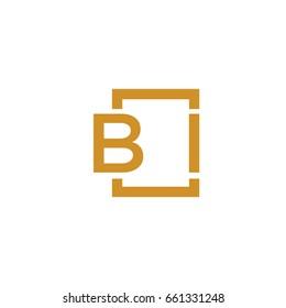 Simple BI initial Logo designs template