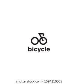 simple bicycle line logo editable vector