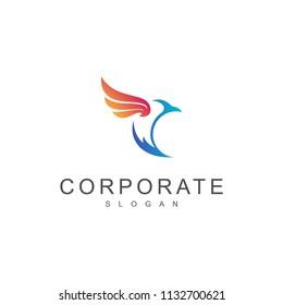 Simple Bird Logo Design Template