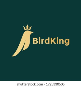 the simple bird logo and king's crown