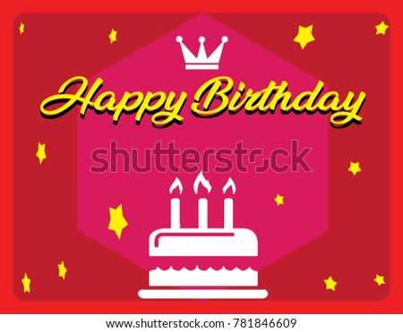 Simple birthday greeting stock vector royalty free 781846609 simple birthday greeting m4hsunfo
