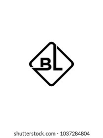 Simple BL initial Logo design template vector illustration