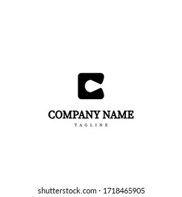 Simple Black C Letter Logo Design