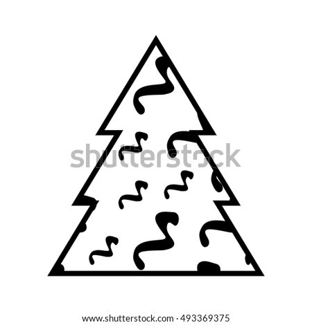 Simple Black Christmas Tree Icon Abstract Stock Vector Royalty Free