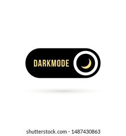 simple black darkmode switch icon. flat minimal style trend modern logotype graphic design isolated on white. concept of gadget interface switch to dark or night mode and ui symbol