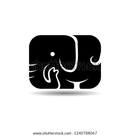 be9c96b05de6 Simple Black Elephant Icon Logo Vector Stock Vector (Royalty Free ...