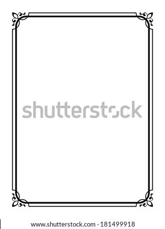simple black ornamental decorative frame のベクター画像素材
