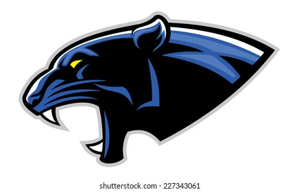 panther head images stock photos vectors shutterstock rh shutterstock com School Panther Logo Carolina Panthers New Logo