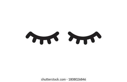 Simple black two eyelashes icon on white vector image