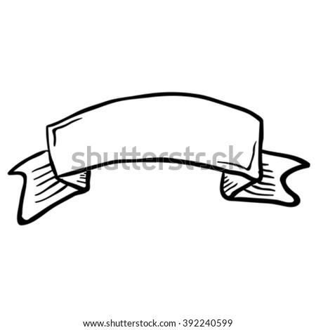 simple black white cartoon tattoo scroll stock vector royalty free