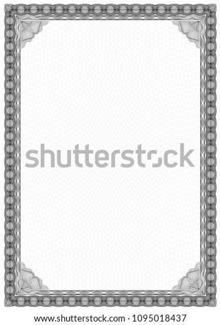 Simple Black White Certificate Frame Border Stock Vector (Royalty ...